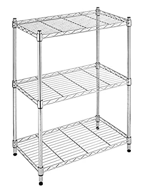 Whitmor Supreme Small 3 Tier Shelving Adjustable Chrome