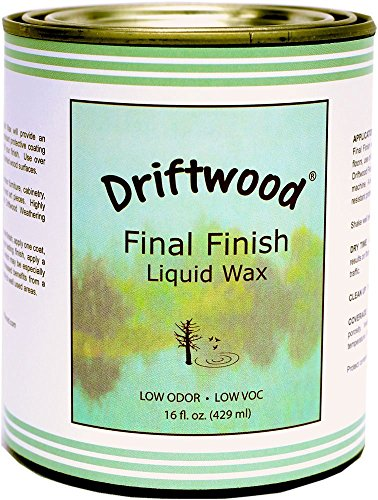 - Driftwood Final Finish Liquid Wax Pint, Non-Toxic Liquid Furniture Wax Maintains Your Driftwood Weathered Wood Finish and Creates An Easy Wax Finish over Chalk Paint