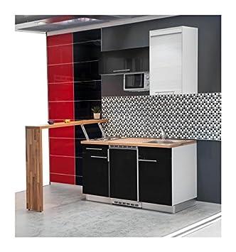 Mebasa MCFT140BS Küche, Hochwertige Einbauküche, Moderne Miniküche ... | {Miniküche design 33}