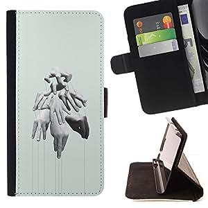 Momo Phone Case / Flip Funda de Cuero Case Cover - Manos Puppet Master Profundo Significado - LG G2 D800