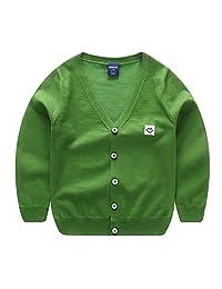 Motteecity Fashion Boys Falls Spring Stylish Smile Face Woolen Warm Cardigan Sweater