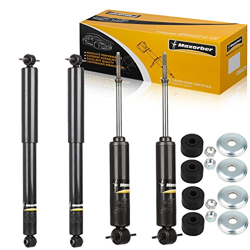 (Maxorber Full Set Shocks Struts Absorber Compatible with Chevy Express GMC Savanna 1500 2500 3500 Suburban Chevy Tahoe GMC Yukon 95 96 97 98 99 00 2001 2002 Chevy GMC)