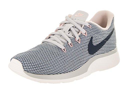 Nike Women's Tanjun Racer Pure Platinum/Armory/Navy Running Shoe 10 Women US