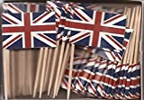 25 Box Wholesale Lot of United Kingdom Toothpick Flags, 2500 Small British UK Flag Toothpicks or Cocktail Picks