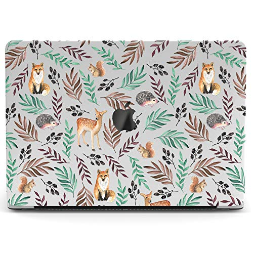 Wonder Wild Mac Retina Cover Case for MacBook Pro 15 inch 12 11 Clear Hard Air 13 Apple 2019 Protective Laptop 2018 2017 2016 2015 Plastic Print Touch Bar Cute Kids Funny Animal Fox Branches Squirrel
