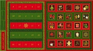Seasons greetings advent calendar 100 cotton quilting panel fabric seasons greetings advent calendar 100 cotton quilting panel fabric m4hsunfo
