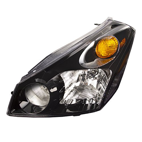 Headlights Depot Replacement for Nissan Quest Black Headlight OE Style Replacement Headlamp Driver Side New