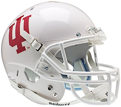 (Schutt Indiana Hoosiers Full XP Replica Football Helmet - White - NCAA Licensed - Indiana Hoosiers)