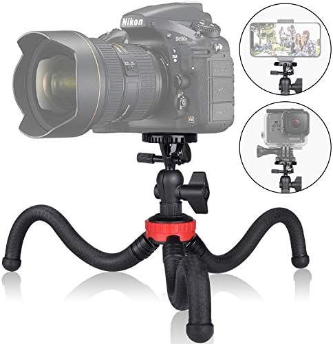3in1 アクションカメラ デジタル一眼レフ 携帯電話 ポータブル フレキシブル ミニ トラベル 三脚 ビデオカメラ プロジェクター 卓上スタンド マウント GoPro Canon iPhone ウェブカメラ Youtuber レビュワー Vlogingライブストリーミングポッドキャスティング-13インチ