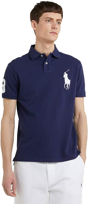Ralph Lauren Polo Big Pony Slim Fit (XL, Newport Navy): Amazon ...