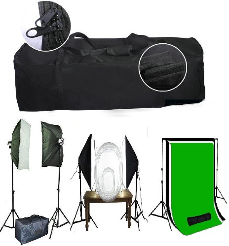 CanadianStudio Large 32' Padded Studio Lighting Kit Carrying Case Bag 9s case