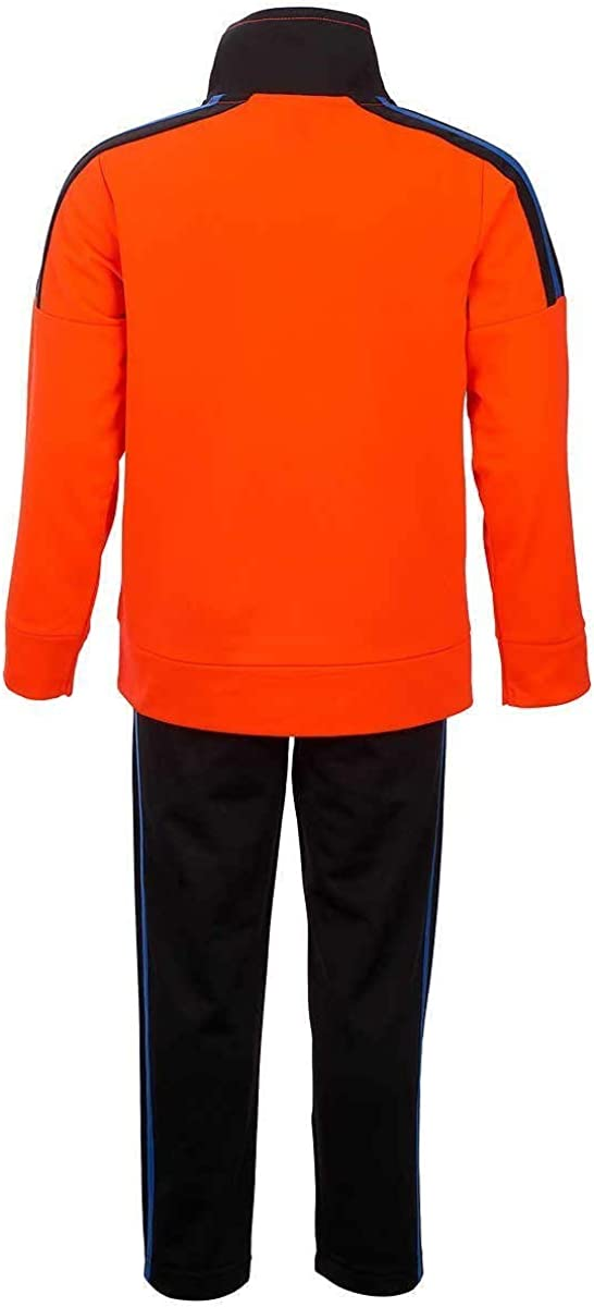 3T, Red Orange adidas Boys Tricot Jacket and Pant Set