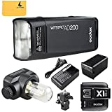 GODOX AD200 TTL 2.4G HSS 1/8000s Pocket Flash Light Double Head 200Ws with 2900mAh Lithium Battery Flashlight Flash Lightning+GODOX X1T-N TTL 2.4 G Wireless Flash Trigger Transmitter For Nikon Cameras