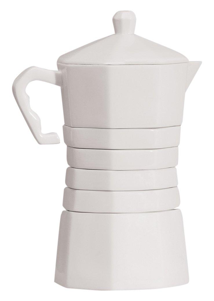 Withcoffee, set de café con forma de cafetera, minimalista, Doiy