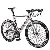 Eurobike Aluminium Road Bike Frame 700C Wheels Commuter Cycling...