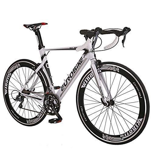 Eurobike Aluminium Road Bike Frame 700C Wheels Commuter Cycling Bicycle 14 Speed White