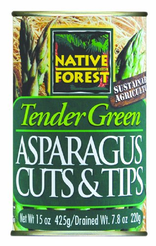 Native Forest Green Asparagus Cuts & Tips, 15-Ounce Cans (Pack of 6)