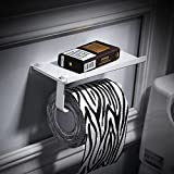 SFSYDDY-Space Aluminum Toilet Paper Rack Free Bathrooms White Hand Carton Toilet Handset