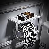 SFSYDDY-Space Aluminum Toilet Paper Rack Free Bathrooms White Hand Carton Toilet Handset