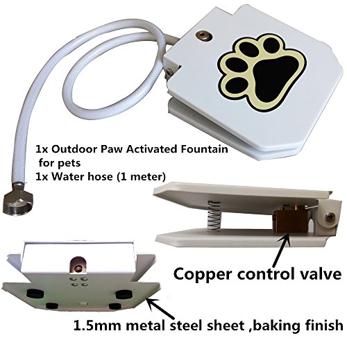 - Automatic Doggie Water Fountain Dog Sprinkler Dispenser Paw Activated for pets by Happygo