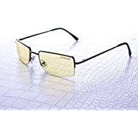 NoScope Gemini Yellow Lens Video Game Gaming TV & Computer Glasses | Anti Blue Rays & Glare Free | Eye Protection | Reduce Eye Strain and Fatigue | PS4 & Xbox One | - Metal Frame, Black