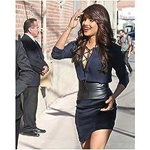 Priyanka Chopra 8 Inch x10 Inch Photograph Barfi! Don Don 2 Agneepath Walking Up to Building in Little Black Dress kn