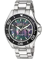 Invicta Mens Pro Diver Quartz Stainless Steel Casual Watch, Color:Silver-Toned (Model: 23068)
