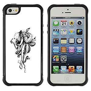 """Hypernova Defender Series TPU protection Cas Case Coque pour Apple iPhone SE / iPhone 5 / iPhone 5S [Monster Pulpo Blanco Marfil""""]"""