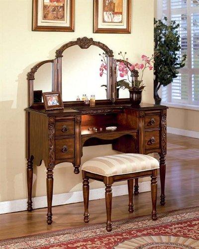 Dark Oak Finish Wood Vanity Set by Acme  - Cherry Oak Vanity Shopping Results