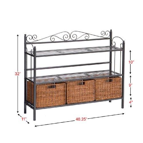 SEI Celtic 3-Drawer Storage Shelf