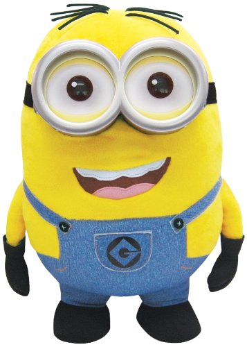 Thinkway Toys - Minions 25178 Giant Plush Dave chatty 45 cm. by Thinkway Toys