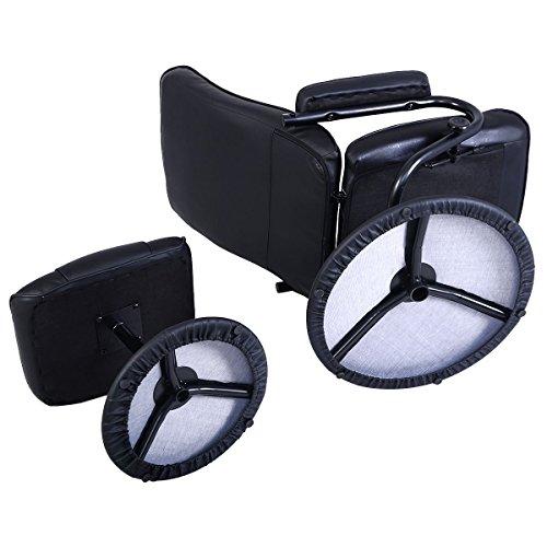Giantex Recliner Swivel Armchair Lounge Seat W Footrest
