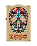 Zippo Custom Design Colorful Skull Reg Hi Pol Brass Windproof Collectible Lighter. Made in USA Limited Edition & Rare