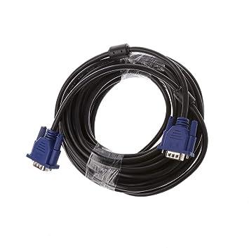 qianqian56 - Cable de extensión VGA de 15 Pines Macho a Macho para ...