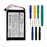 CS 930mAh Li-ion High-Capacity Replacement Batteries for Garmin Nuvi 2595LMT, Nuvi 1200, Nuvi 1205, Nuvi 1205W, Nuvi 1250, fits Garmin 361-00035-01 with tools kit