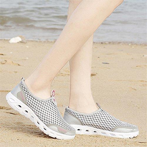 Herren Leichtgewicht Aquaschuhe Sommer Grey2 Quick Damen Dry AIRAVATA Rutschfest Strand Atmungsaktiv Sports Outdoor für Wasserschuhe YEqwdR