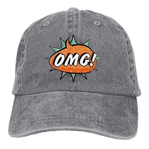 JHDHVRFRr Hat OMG Sign Denim Skull Cap Cowboy Cowgirl Sport Hats for Men Women