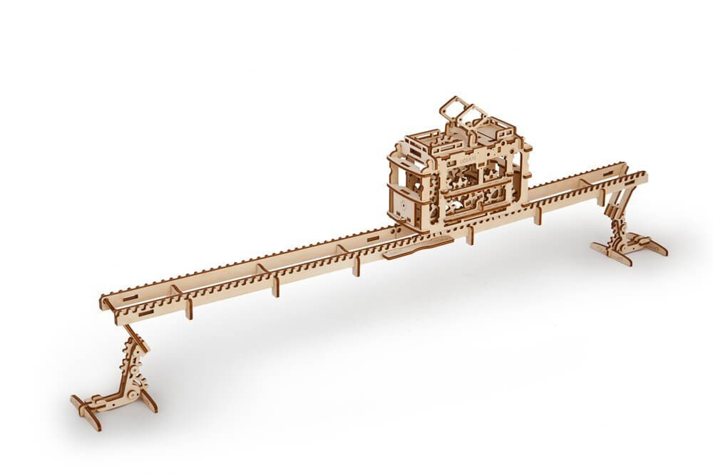 【国際ブランド】 Tram by on on Rails B077PB8L7T by Ugears Is Mechanical 3D Puzzle Wooden Brainteaser for Kids Teens and Adults [並行輸入品] B077PB8L7T, カツシカク:89a59460 --- clubavenue.eu