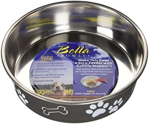 Loving Pets Bella Bowl for Dogs, Large, Espresso