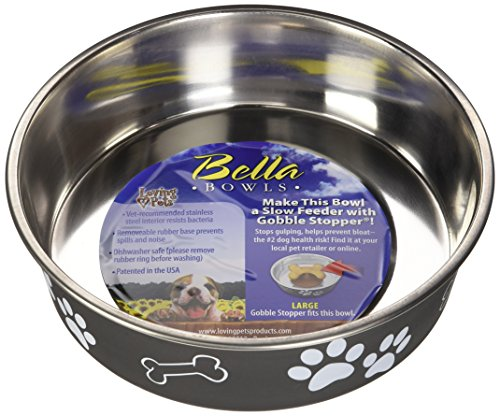 Bowl Bowl Dog Bella (Loving Pets Bella Bowl for Dogs, Large, Espresso)