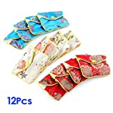 Gleader 12 x Jewellery Jewelry Silk Purse Pouch Gift Bag Bags HOT