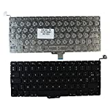 Apple MacBook Pro A1278 13 Inch Unibody Backlit Version (Without Backlit Board) Black French Layout Replacement Laptop Keyboard
