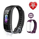 ISPIRITY Fitness Tracker with Heart Rate Monitor, Fitness Watch Activity Tracker, Smart Watch