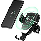 Wireless Car Charger, Veidoo 10W Gravity Wireless Fast Charge Car Mount Air Vent Phone Holder Compatible with Samsung Galaxy S9 S9 Plus S8 & Phone X/XS/XS Max