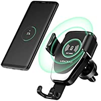 Wireless Car Charger, Veidoo Gravity Fast Charge Car Mount Air Vent Phone Holder Compatible with Samsung Galaxy S9 S9 Plus S8 S7/S7 Edge Note 8 5 & Phone X/Xs/Xs Plus/8/8 Plus (Black)