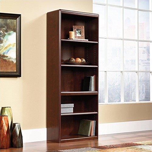Cornerstone 5 Shelf Bookcase in Classic Cherry (Slide Shelf Laminate)