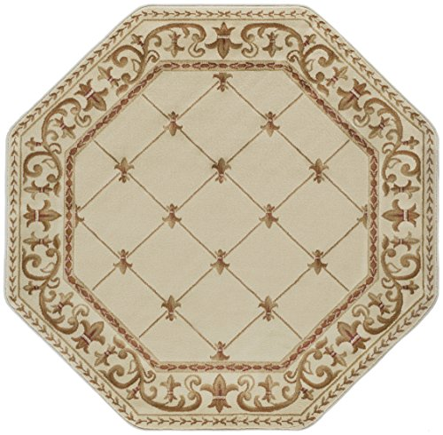 5'6 Octagon Area Rug (Orleans Traditional Border Ivory Octagon Area Rug, 5' Octagon)
