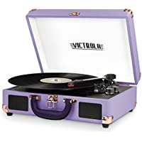 Victrola Vintage 3-Speed Bluetooth Suitcase Turntable with Speakers (Lavender)