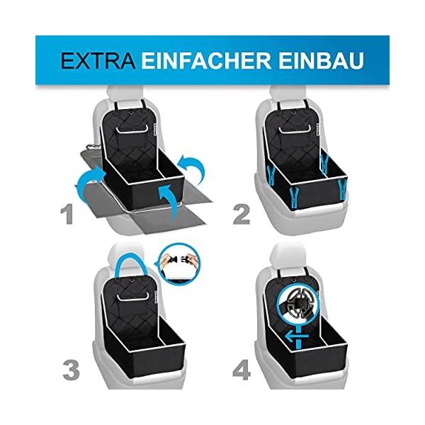51H5mOrhf3S BESTPAWS Hunde Autositz für kleine & mittlere Hunde - Autositz Hund für Rückbank & Beifahrersitz - Hundebox faltbar…