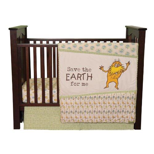 Trend Lab Dr. Seuss The Lorax 3 Piece Crib Bedding Set, Natural